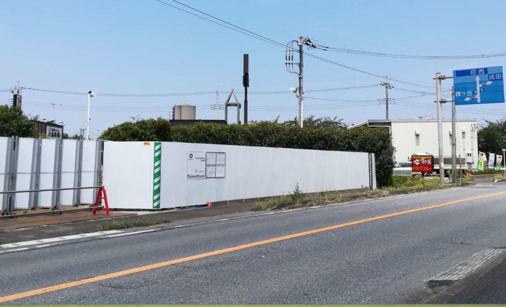 白井市根で建設中の飲食店舗02